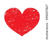 heart shape. rubber stamp with... | Shutterstock .eps vector #390037867