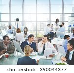 business people office working... | Shutterstock . vector #390044377