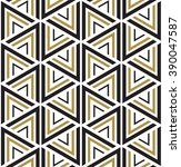 pattern triangles. geometric... | Shutterstock .eps vector #390047587