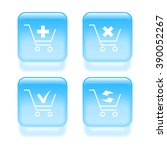 glassy shopping cart icons....