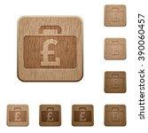 set of carved wooden pound bag...