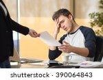 worried intern receiving a...