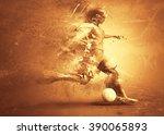soccer player abstract | Shutterstock . vector #390065893
