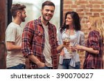 young people in casual clothes...   Shutterstock . vector #390070027