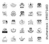 food and market icons set... | Shutterstock .eps vector #390071683