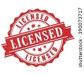 licensed product stamp... | Shutterstock .eps vector #390073717