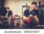professional car  mechanic...   Shutterstock . vector #390073927