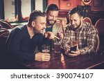 cheerful old friends having fun ... | Shutterstock . vector #390074107
