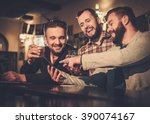 cheerful old friends having fun ... | Shutterstock . vector #390074167