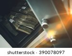 cash money safe deposit. small... | Shutterstock . vector #390078097