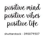 positive inscription. greeting... | Shutterstock .eps vector #390079507