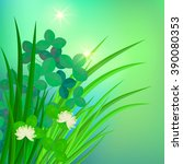 green floral background with... | Shutterstock .eps vector #390080353