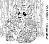 zentangle stylized cartoon... | Shutterstock .eps vector #390091423