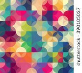 abstract colorful  retro... | Shutterstock . vector #390105037