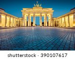 Stock photo classic view of famous brandenburger tor brandenburg gate one of the best known landmarks and 390107617