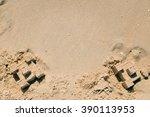 Sand Castle Near The Sea. Top...