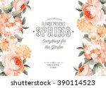 elegant floral card. | Shutterstock .eps vector #390114523