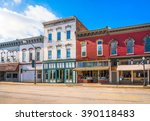 small town business storefronts ... | Shutterstock . vector #390118483