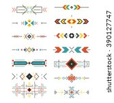 tribal border collection made... | Shutterstock .eps vector #390127747