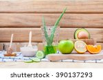 homemade skin care and body... | Shutterstock . vector #390137293