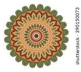 mandala vector for art ... | Shutterstock .eps vector #390150073