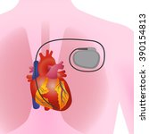 the heart of human and... | Shutterstock .eps vector #390154813