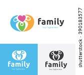 family logo  people logo ... | Shutterstock .eps vector #390183577