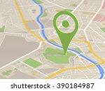 map locator icon | Shutterstock . vector #390184987