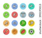 sport icons | Shutterstock .eps vector #390195013