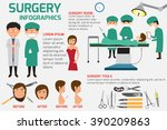 surgery infographics elements.... | Shutterstock .eps vector #390209863