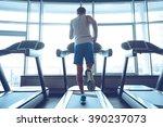 jogging his way to good health. ... | Shutterstock . vector #390237073