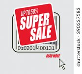banner with text  super sale ... | Shutterstock .eps vector #390237583
