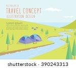 illustration vector campsites