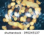 colorful circles of light... | Shutterstock . vector #390245137