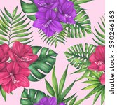 Watercolor Exotic  Tropical...