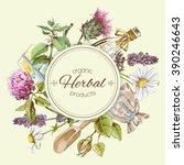 vector vintage round banner... | Shutterstock .eps vector #390246643