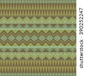seamless ethnic pattern in boho ... | Shutterstock .eps vector #390252247