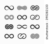 infinity symbol icons vector... | Shutterstock .eps vector #390282133