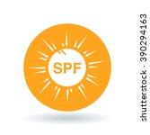white spf ultra violet rays sun ... | Shutterstock .eps vector #390294163