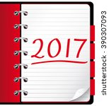 2017 agenda. red office...