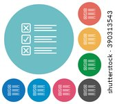 flat questionnaire icon set on...