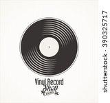vinyl record shop retro grunge... | Shutterstock .eps vector #390325717