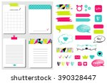 sticker  icons  signs for... | Shutterstock .eps vector #390328447