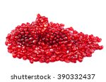 pomegranate isolated on white... | Shutterstock . vector #390332437