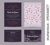 wedding floral set with... | Shutterstock .eps vector #390336877