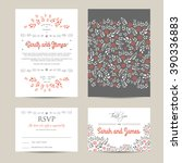 wedding floral set with... | Shutterstock .eps vector #390336883