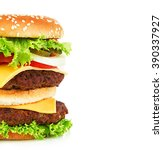 big royal appetizing burger ... | Shutterstock . vector #390337927