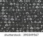 grunge background  black brick... | Shutterstock . vector #390349567