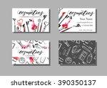 makeup artist business card.... | Shutterstock .eps vector #390350137
