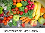 fresh fruits and vegetables | Shutterstock . vector #390350473